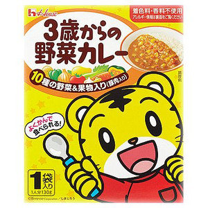 日本*巧虎野菜豬肉咖哩 130g