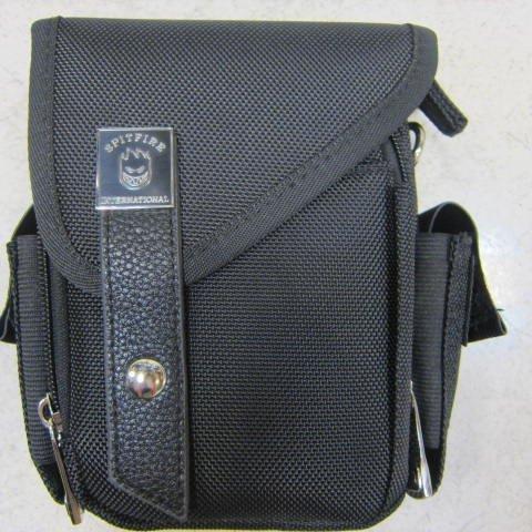 ~雪黛屋~-SPITFIRE 外掛式腰包防水尼龍布材質隨身物品專用包工作袋可肩背斜側可穿過皮帶多功能 #2958 黑