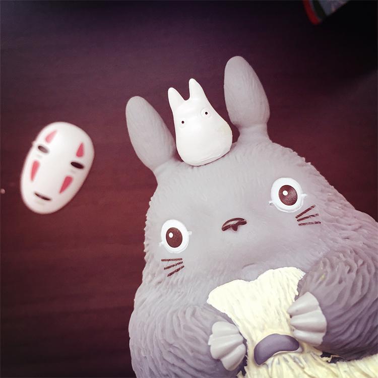 PGS7 日本卡通系列商品 - 龍貓 無臉男 造型 存錢筒 となりのトトロ Totoro 宮崎駿 吉卜力 存錢桶