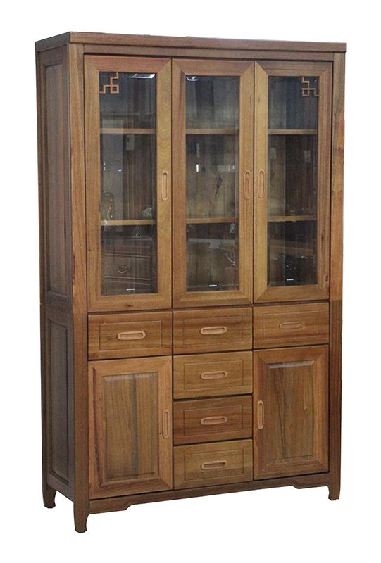 【尚品家具】484-01 日世 4尺樟木全實木書櫃(另有2尺、3尺)開門書櫃/書櫥收納櫃/玻璃櫃