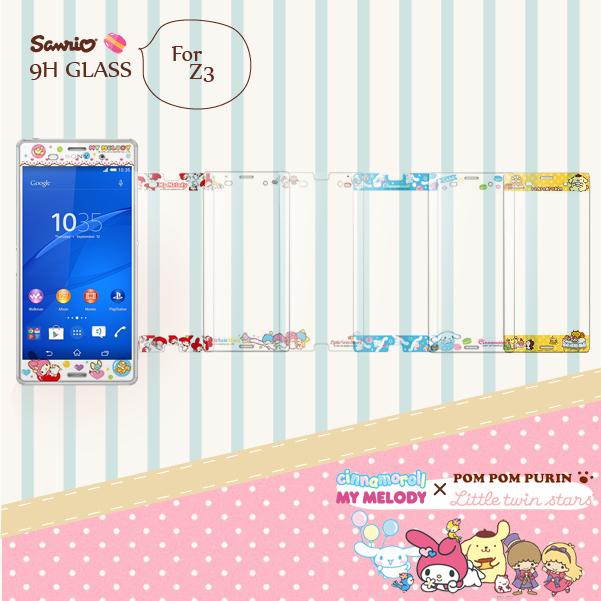 SONY XPERIA Z3 D6653 9H 正版 三麗鷗Sanrio 雙子星 美樂蒂 9H浮雕彩繪 鋼化玻璃螢幕貼 手機保護膜