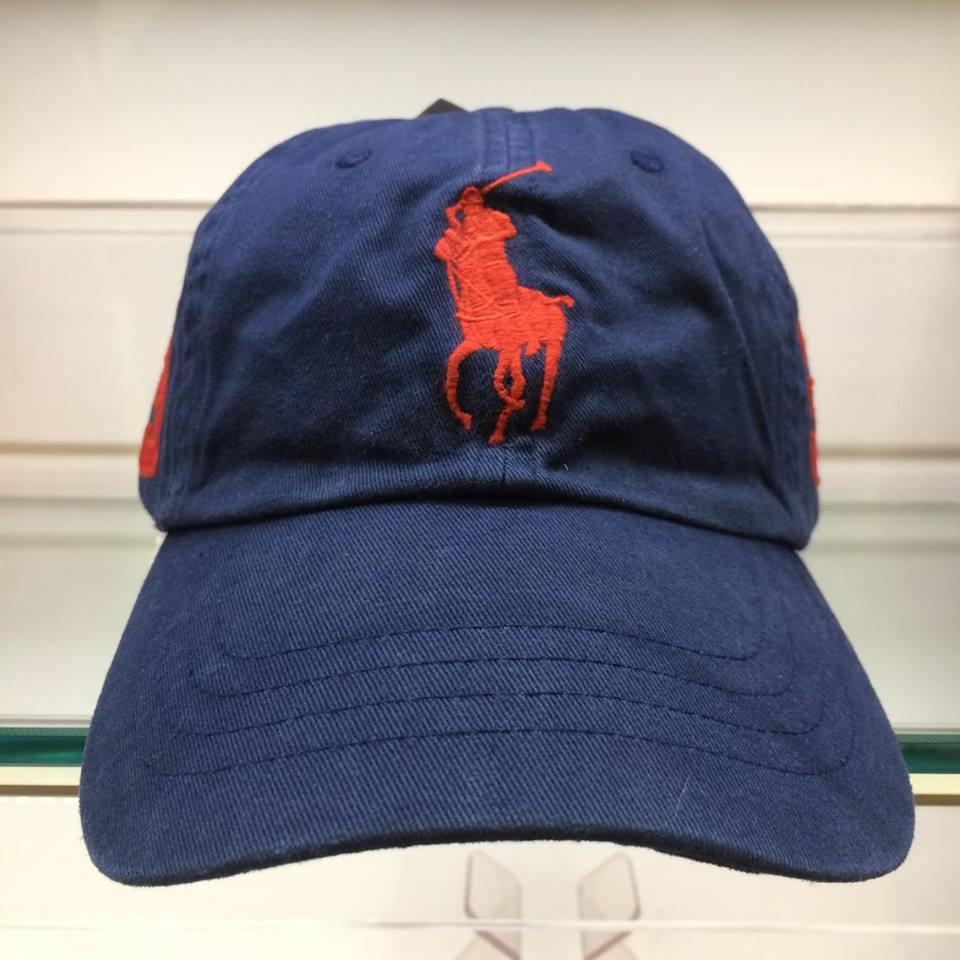 BEETLE POLO RALPH BASEBALL CAP 深藍 藍紅 馬球 LOGO 可調式 老帽 棒球帽 MN-385