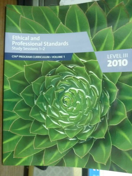 【書寶二手書T7/進修考試_QEM】Ethical and Prof…1-2(Level3,Vol.1)