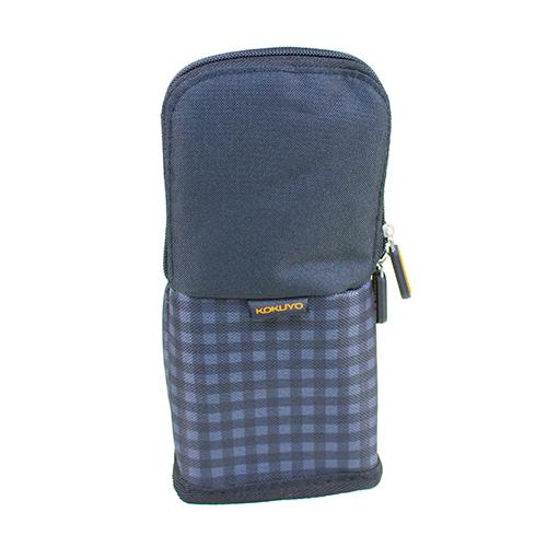 【KOKUYO】  critz多功能直立式筆袋(黑格)PC005-M