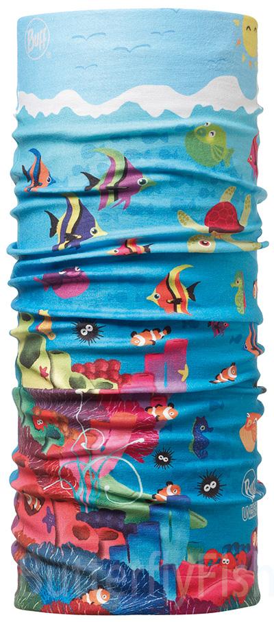 Buff Coolmax -歡樂海洋 兒童頭巾;BF107594;防曬透氣頭巾