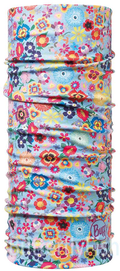 Buff Coolmax -繁花似錦 兒童頭巾;BF107596;防曬透氣頭巾;Coolmax; 蝴蝶魚親子戶外用品館