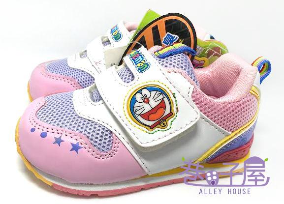 【巷子屋】 哆啦A夢 女童健康成長輕量運動機能鞋 [31613] 粉 超值價$198