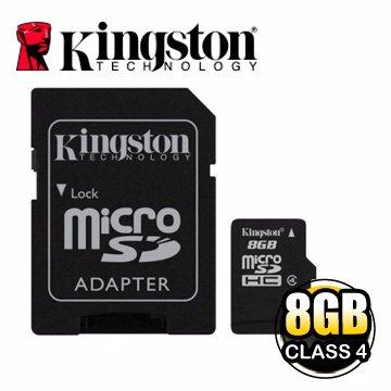 *╯新風尚潮流╭*金士頓記憶卡 8G 8GB Micro SDHC Class 4 C4 SDC4/8GB