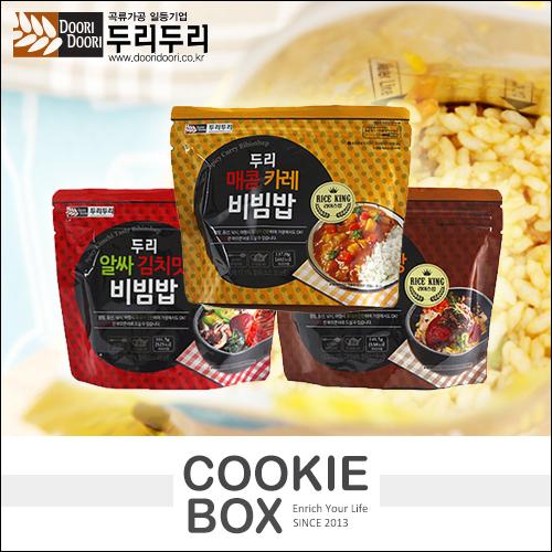 韓國 Doori Doori 石鍋 拌飯 韓式 料理 咖哩 牛肉 泡菜 風味 *餅乾盒子*