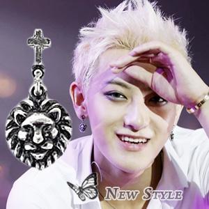 ☆ New Style ☆ EXO TAO 黃子韜 西德鋼 同款十字雄獅耳釘耳環 (單支價)