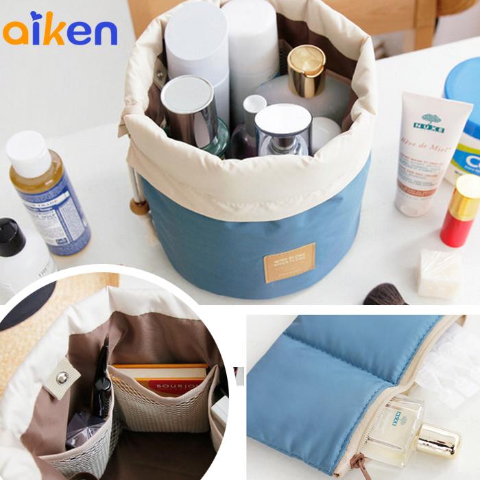 【艾肯居家生活館】 圓筒造型 化妝品 收納包 化妝 外出 旅行 包中包 收納包 化妝包 -J1711-009