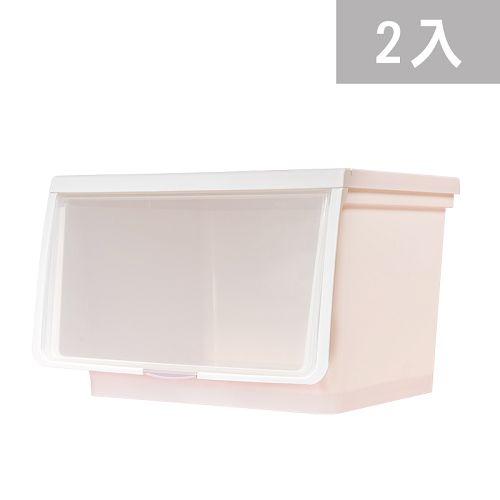 大象平方-輕透系列直取式收納箱-CM3-004二入(38L)