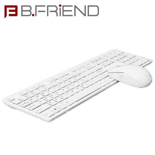 B.FRIEND三區塊無線鍵盤滑鼠組 白色 剪刀腳RF1430WH