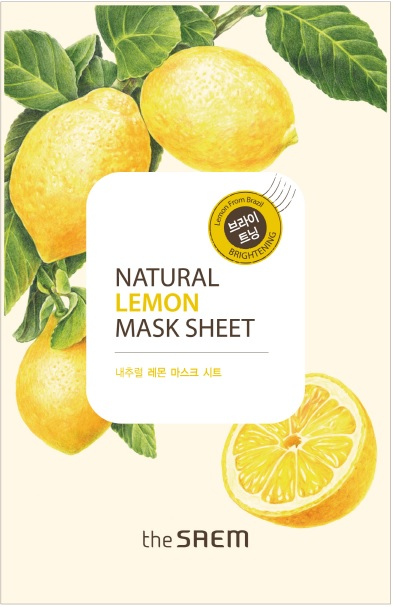 韓國the SAEM Natural 美顏檸檬面膜 21ml Natural Lemon Mask Sheet (New)【辰湘國際】