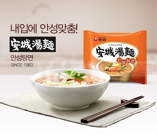 韓國泡麵 農心 安城湯麵  流星花園 李敏鎬最愛