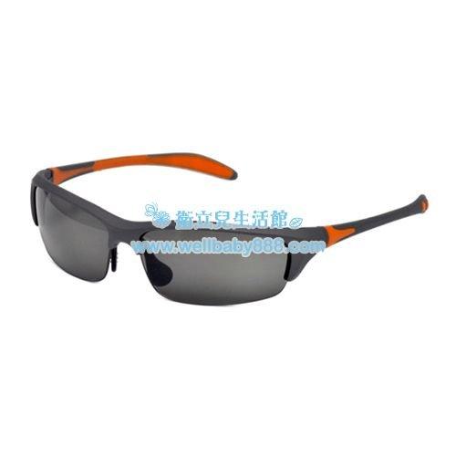 ★衛立兒生活館★美國RKS雙色葉片型太陽眼鏡-墨橘(10歲以上)