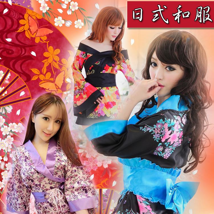 【日式系列】印花和服 短版和服 浴衣 角色扮演 性感套裝 祭典 cosplay 舞台 表演 日式 和風 表演服