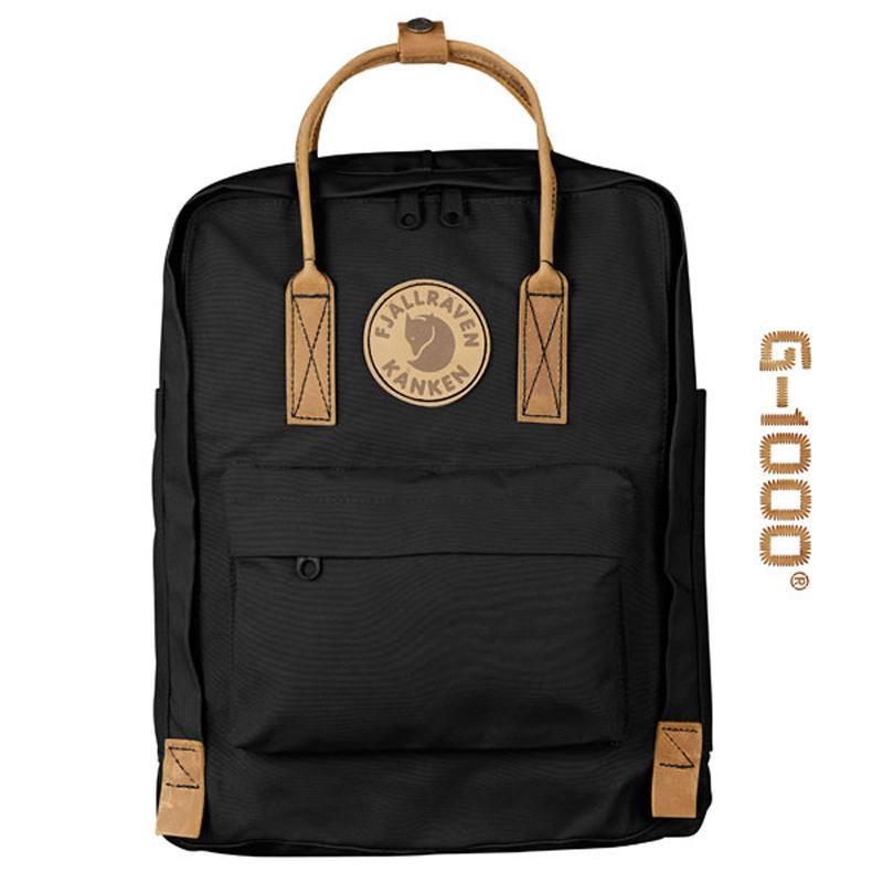 【鄉野情戶外專業】 Fjallraven |瑞典|  小狐狸 Kanken No.2 背包方型書包 方型背包 後背包 (黑) _23565