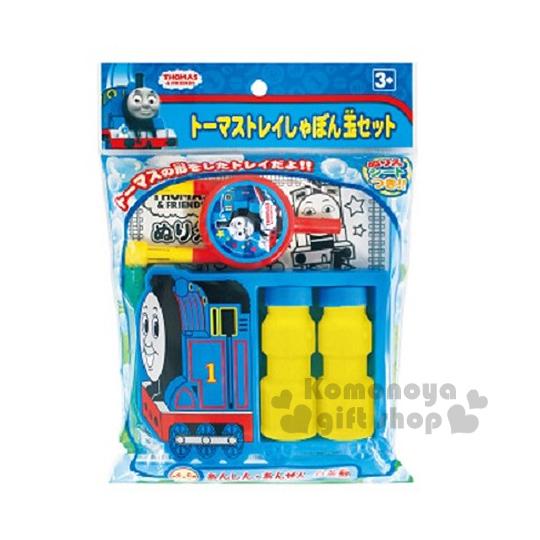 〔小禮堂嬰幼館〕湯瑪士小火車 吹泡泡玩具《藍黃.車頭》適合3歲以上兒童