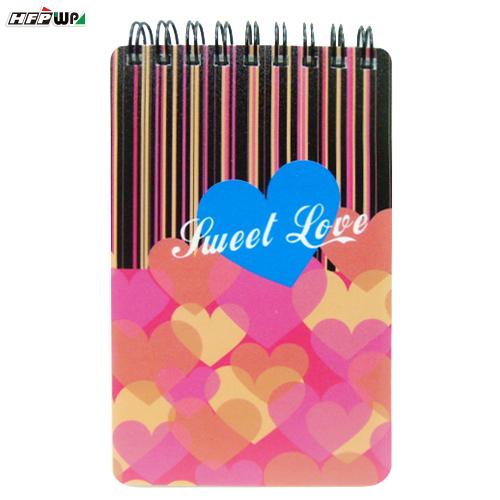 HFPWP SWEET LOVE 口袋型筆記本100張內頁附索引尺台灣製 SLN3351 / 本