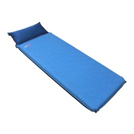 PolarStar【台灣製】 自動充氣睡墊-附枕頭 6.35cm『青藍』 P13745|帳篷|露營