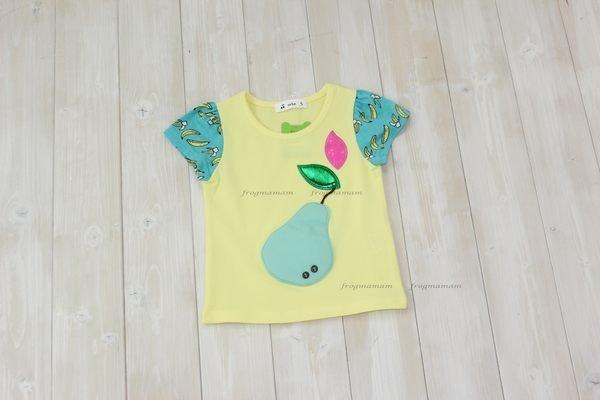 限時8折☆韓國直送.正韓西洋梨香蕉袖T恤5#~15#