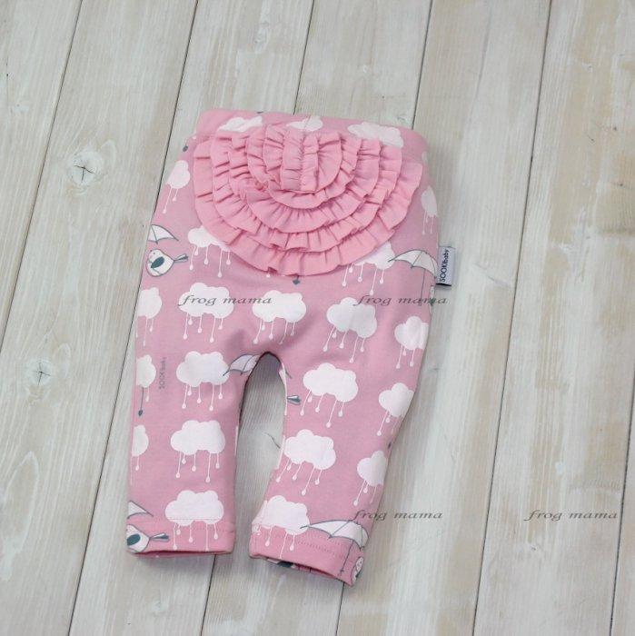 ☆青蛙媽媽☆雲朵小鳥屁屁造型褲、寶寶長褲3m~24m