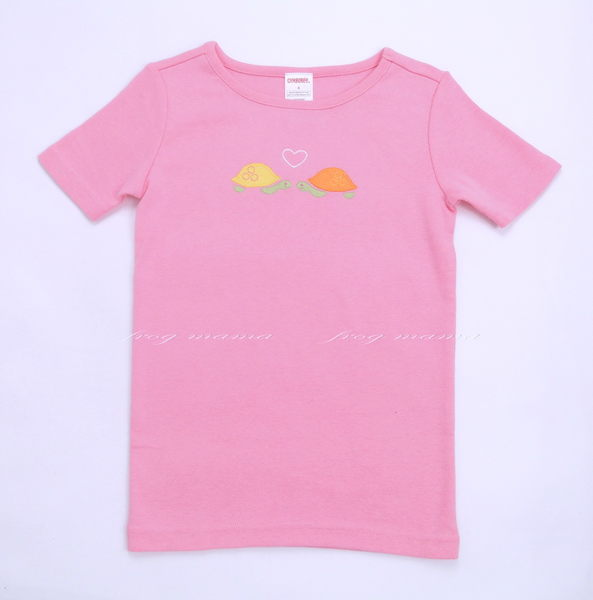 GYMBOREE粉紅龜T恤8T(6折專區)