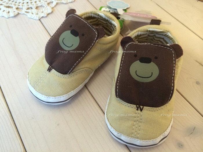 ☆青蛙媽媽☆卡特Carter's小熊學步鞋6/9M~9/12M