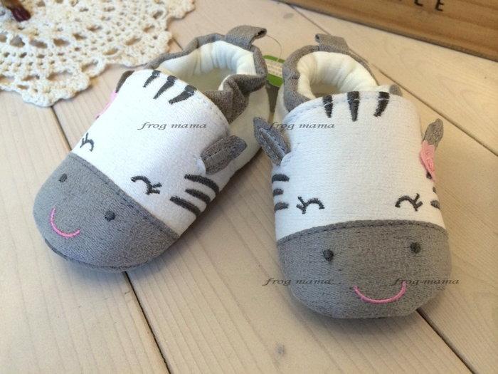 ☆青蛙媽媽☆斑馬小花學步鞋、寶寶鞋1#~3#