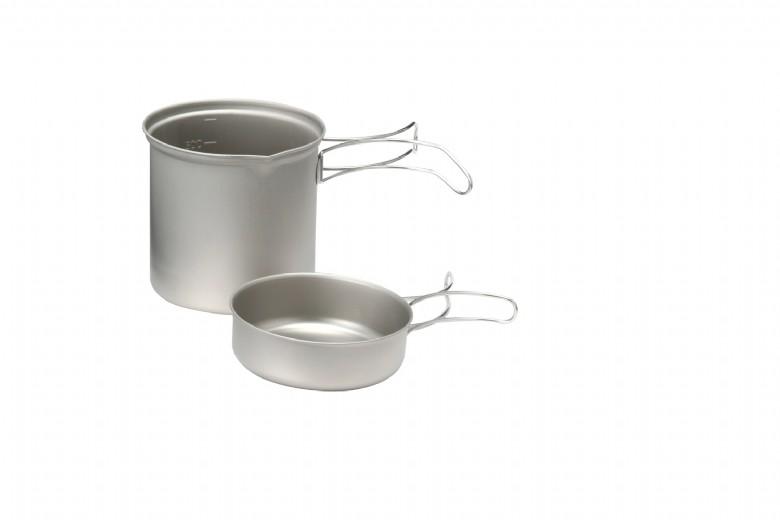 【大山野營】EPIgas 冒險炊具套組 超輕 鈦鍋 1人鍋 一人鍋 單人鍋 鈦金屬鍋具 鈦合金鍋具 T-8004