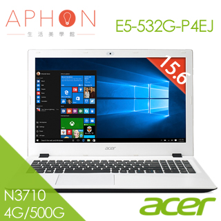 【Aphon生活美學館】acer E5-532G-P4EJ 15.6吋 2G獨顯 Win10筆電(N3710/4G/500G)