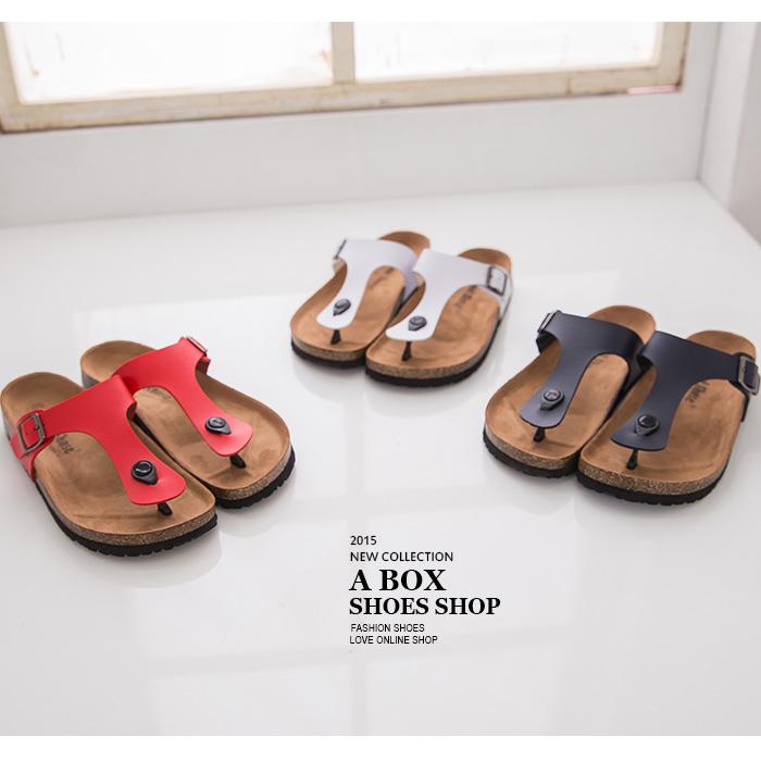 格子舖*【AS491】MIT台灣製 超值高質感基本款女款皮革夾腳鞋 懶人鞋 3色