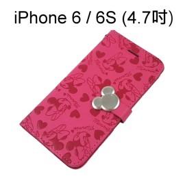 迪士尼金屬扣皮套 [桃] 米妮 iPhone 6 / 6S (4.7吋)【正版授權】