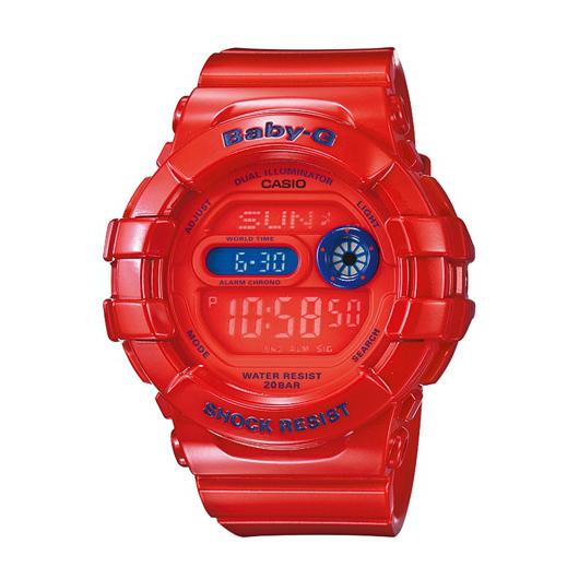 CASIO BABY-G BGD-140-4DR時尚夜光紅數位流行腕錶/紅面42.3mm