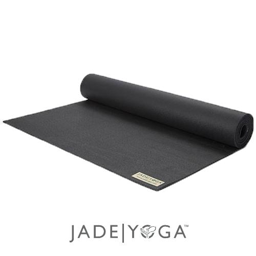 Jade 天然橡膠瑜珈墊 173cm-黑色