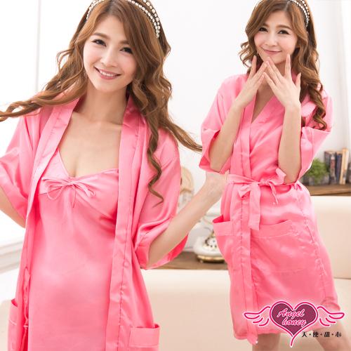 天使甜心 UT10954 桃色緞面絲兩件式 日系睡衣/睡袍/浴衣