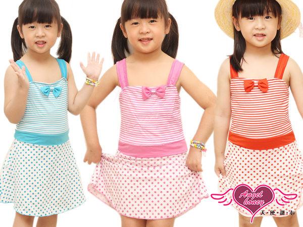 天使甜心 E8189紅/紫/藍 小朋友/小童/幼童 卡哇伊連身式泳衣泳裝 溫泉泡湯