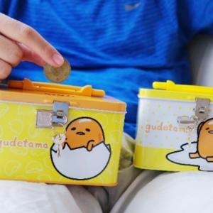 美麗大街【105080318】蛋黃哥鐵盒 存錢筒 筆筒 收納盒