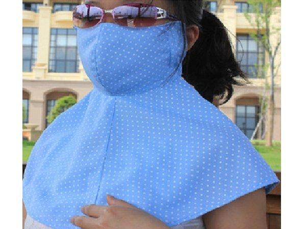 BO雜貨【SV6153】韓版前後全罩式加大護頸口罩防紫外線 防曬口罩 面罩