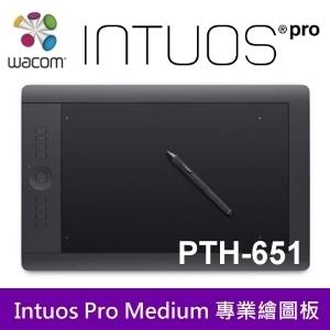 Wacom Intuos Pro PTH-651 專業版 Touch Medium 繪圖板 內建支援無線模組