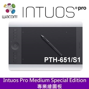 Wacom Intuos Pro PTH-651/S1 專業版 Touch Special Edition 繪圖板 內建支援無線模組