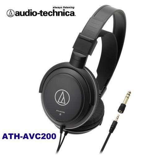 audio-technica鐵三角 ATH-AVC200 密閉式動圈型耳機 輕量AV耳機 生動重現音效