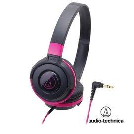audio-technica 鐵三角 ATH-S100 街頭DJ風格可折疊式頭戴耳機【黑粉】耳罩式