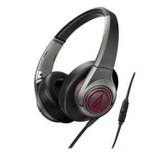 鐵三角 ATH-AX5iS 鐵灰 頭戴式耳機 智慧型手機專用  重低音