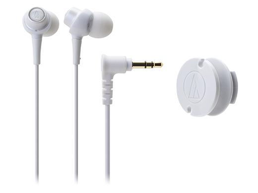 鐵三角 ATH-CKL203 耳塞式耳機 【白】透明晶巧多彩 附捲線器