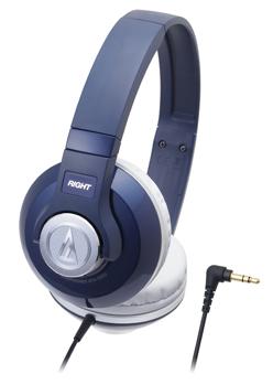 audio-technica 鐵三角 ATH-S500【深藍NV】街頭DJ風格可折疊式頭戴耳機 耳罩式
