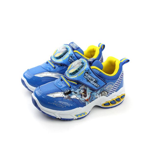 機器戰士 運動鞋 童鞋 藍色 中童 no565