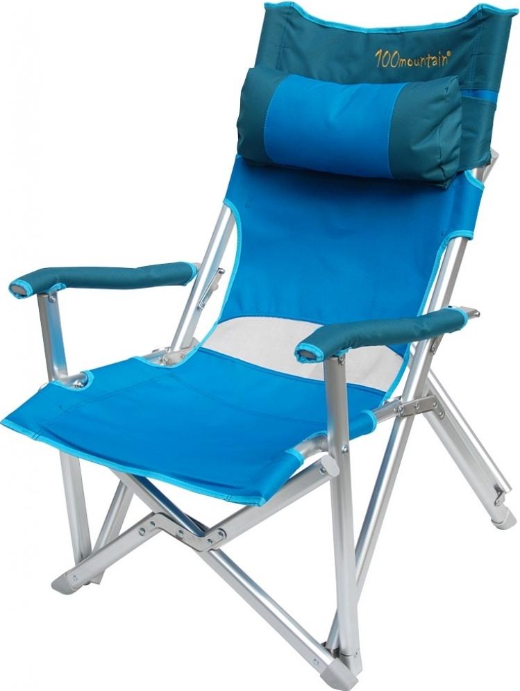巨川椅/露營椅/折疊椅/巨川休閒椅 附頭枕 100mountain mt-ch002B 快樂藍