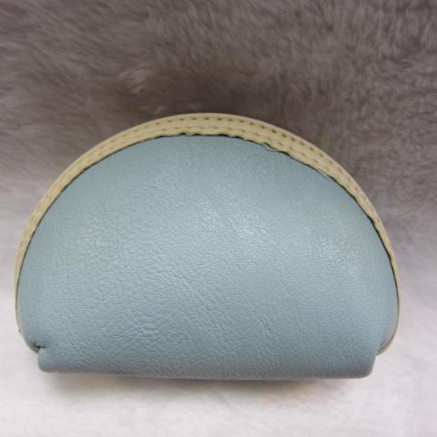 ~雪黛屋~ sandia-polo 零錢包一組三個大中小多功能使用防水尼龍布材質+進口皮革70-SA556-01 粉藍